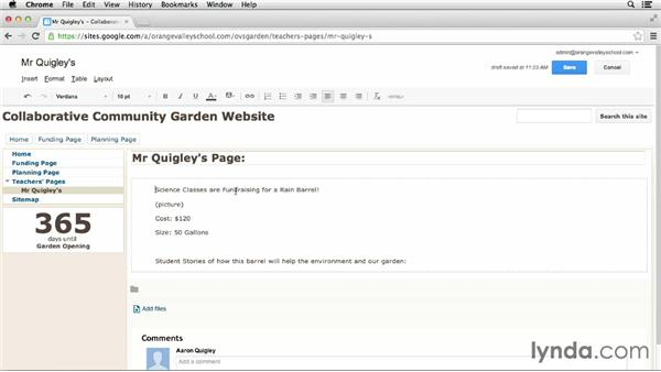 Styling individual pages: Google Apps for Educators