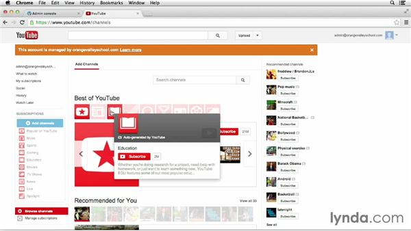 Using YouTube for education: Google Apps for Educators