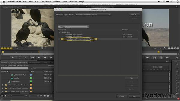 Toggle focus between the Source and Program Monitors: Premiere Pro: Creative Cloud Updates