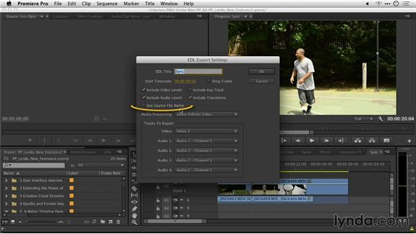 The enhanced EDL Export Settings dialog: Premiere Pro: Creative Cloud Updates