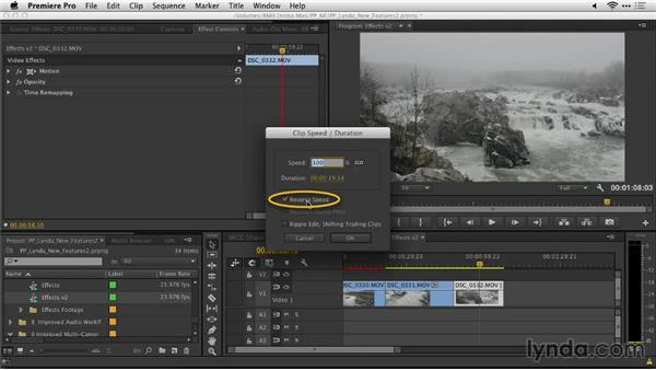 Reversing clips: Premiere Pro: Creative Cloud Updates