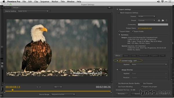 Export with a LUT: Premiere Pro: Creative Cloud Updates
