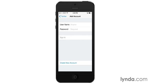 Twitter, Facebook, Flickr, and Vimeo integration: iOS 7: iPhone and iPad Essential Training