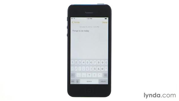 Understanding the keyless keyboard: iOS 7: iPhone and iPad Essential Training