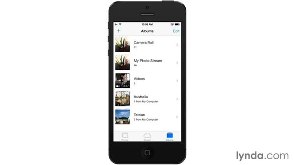Syncing photos from a PC: iOS 7: iPhone and iPad Essential Training