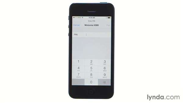 Using a Bluetooth headset: iOS 7: iPhone and iPad Essential Training