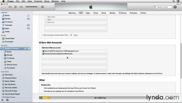 Importing email accounts from your computer: iOS 7: iPhone and iPad Essential Training