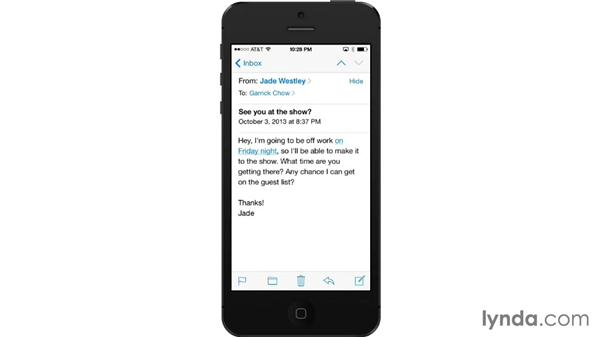 Receiving and reading email: iOS 7: iPhone and iPad Essential Training