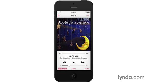 Playing and controlling music: iOS 7: iPhone and iPad Essential Training