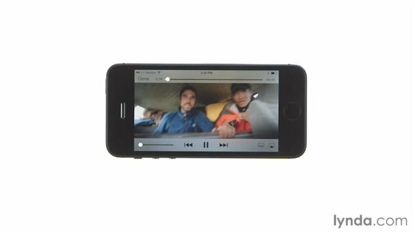 Playing and controlling video: iOS 7: iPhone and iPad Essential Training
