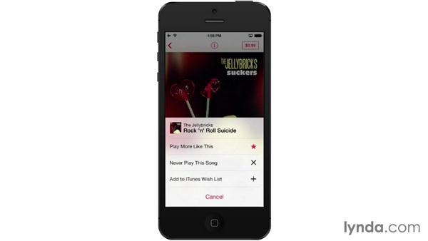 Playing and controlling iTunes Radio: iOS 7: iPhone and iPad Essential Training