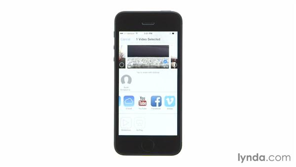 Sharing photos and video: iOS 7: iPhone and iPad Essential Training