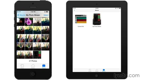 Syncing your photos with a photo stream: iOS 7: iPhone and iPad Essential Training