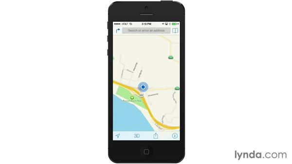 Getting your location with Maps: iOS 7: iPhone and iPad Essential Training