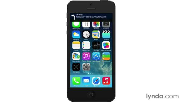 Getting directions: iOS 7: iPhone and iPad Essential Training