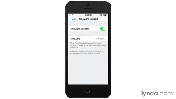 Setting Time Zone Support: iOS 7: iPhone and iPad Essential Training