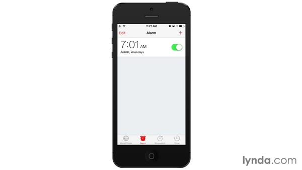 Using the Clock app: iOS 7: iPhone and iPad Essential Training