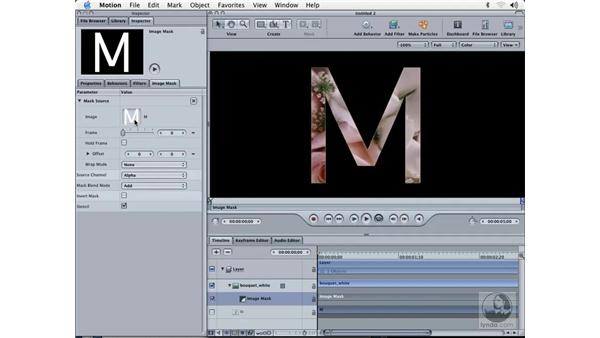 masking with type: Learning Motion