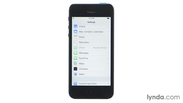 Airplane mode: iOS 7: iPhone and iPad Essential Training