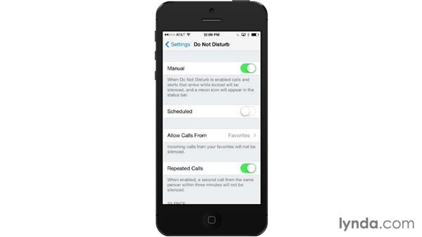Do Not Disturb: iOS 7: iPhone and iPad Essential Training