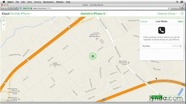 Using Find My iPhone and Activation Lock: iOS 7: iPhone and iPad Essential Training