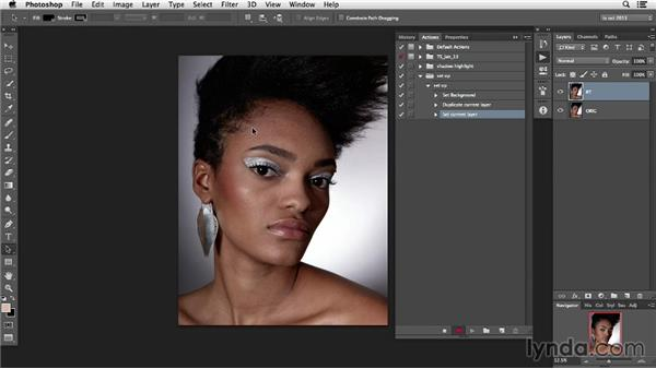 Keyboard shortcuts and actions: Photoshop Retouching Techniques: Faces