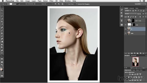 Identify the model's characteristics: Photoshop Retouching Techniques: Faces