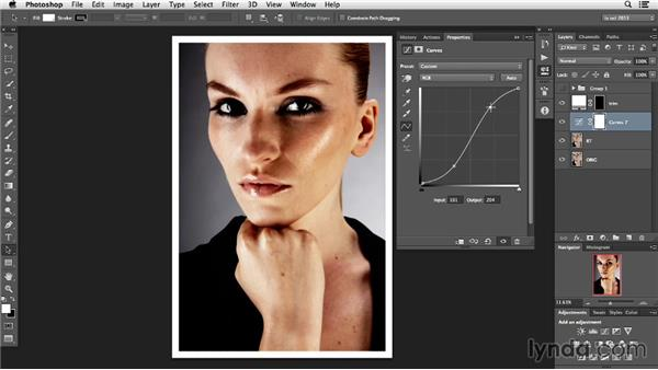 Using adjustment layers: Photoshop Retouching Techniques: Faces