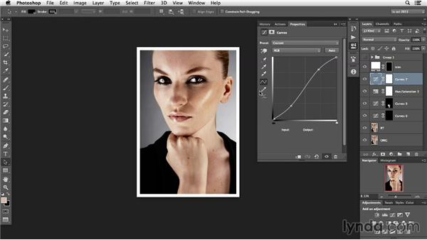 Working the contrast: Photoshop Retouching Techniques: Faces