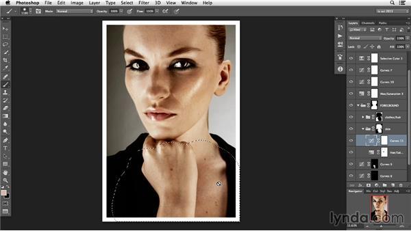 Using masks to color correct: Photoshop Retouching Techniques: Faces