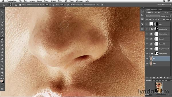 Selective blemish control: Photoshop Retouching Techniques: Faces