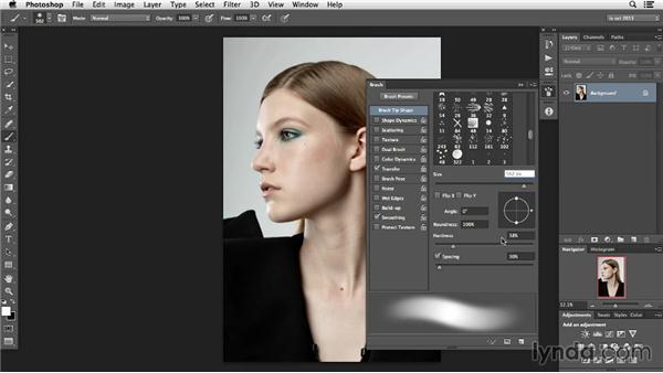 Tool settings: Photoshop Retouching Techniques: Hair