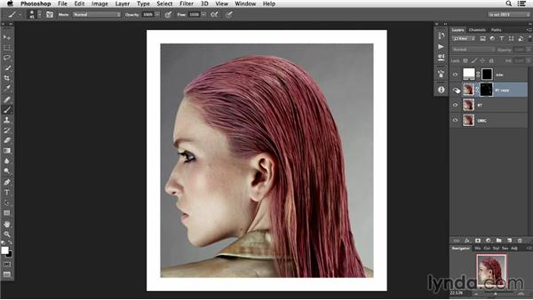 How to soften hard edges for a more photographic feel: Photoshop Retouching Techniques: Hair