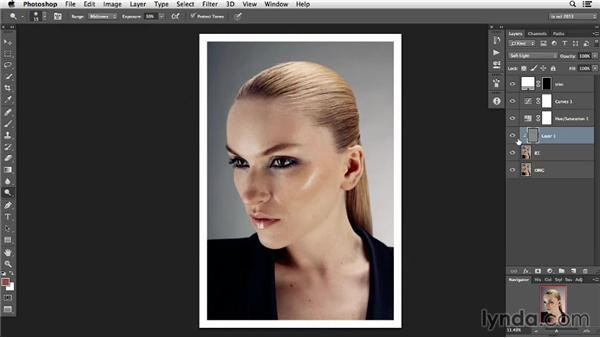 Focusing on hair lines and hair shape: Photoshop Retouching Techniques: Hair