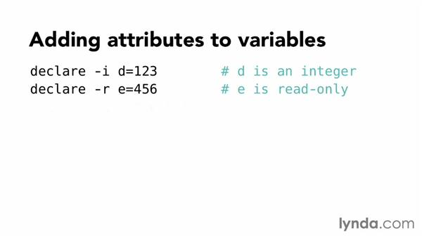 Working with variables: Up and Running with Bash Scripting