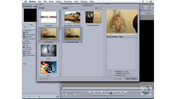 previewing and selecting templates: Learning Motion