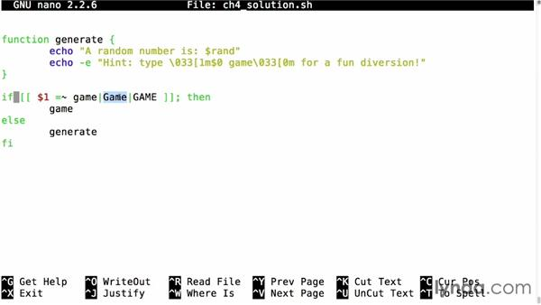 Solution: Make a script that uses input: Up and Running with Bash Scripting