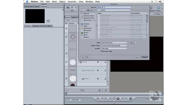 exporting alpha compositions: Learning Motion