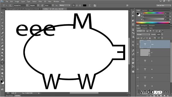 273 Creating a pigture using shapes and letters: Deke's Techniques