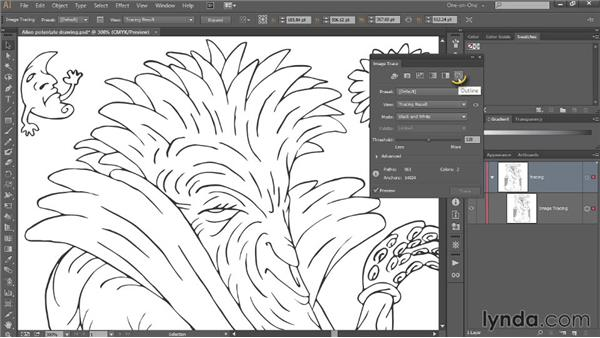 Line Art Software : Tracing a line drawing with uniform strokes