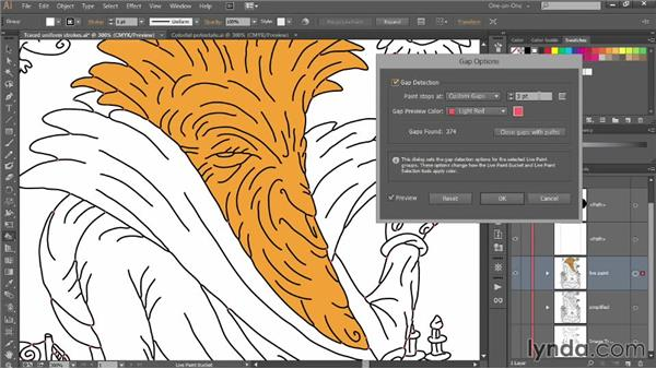 Line Art Tutorial Illustrator : Coloring line art using live paint bucket