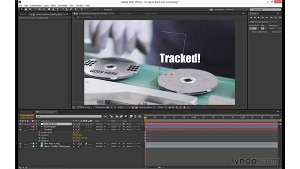 Using the data in After Effects: mocha 3 Essential Training