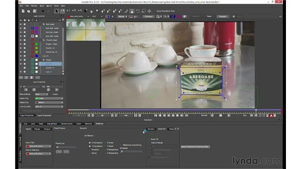 Additional features included with mocha Pro: mocha 3 Essential Training