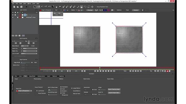 When to use Shear or Perspective: mocha 3 Essential Training