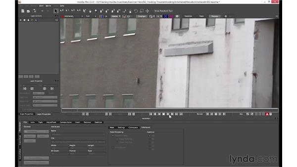Dealing with issues with interlaced footage: mocha 3 Essential Training