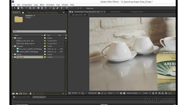 Rendering shape data (mocha Pro only): mocha 3 Essential Training