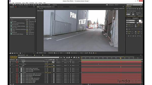 Exporting and checking the 3D camera data in After Effects: mocha 3 Essential Training