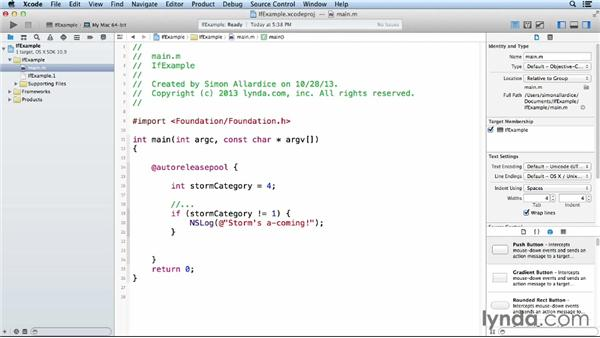 The if statement: Objective-C Essential Training