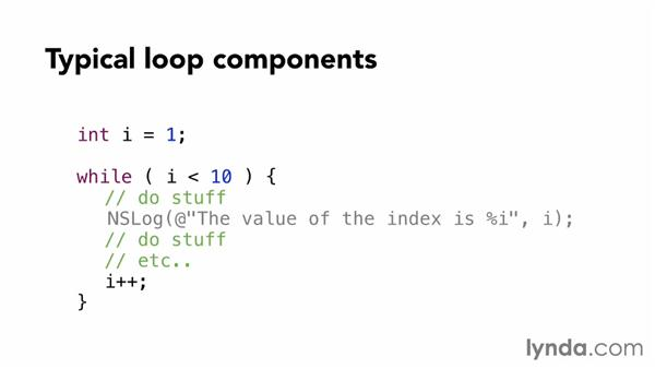 Working with loops: Objective-C Essential Training