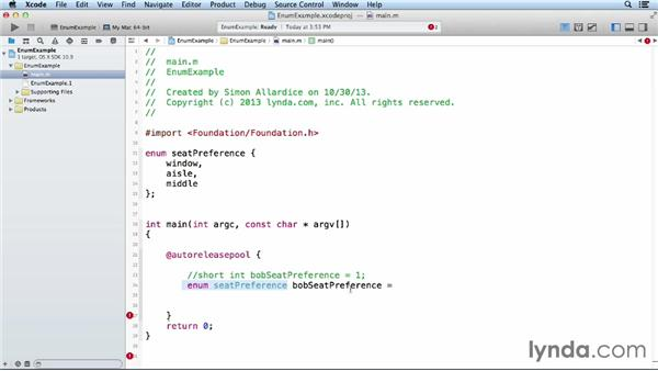Creating enumerations: Objective-C Essential Training